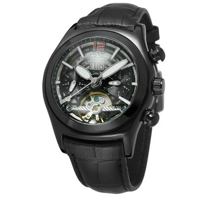 Hollow Automatic Mechanical Watch For Men Waterproof Leather Watch Trendy Personality Leisure 2021 The New Style Fashion enlarge