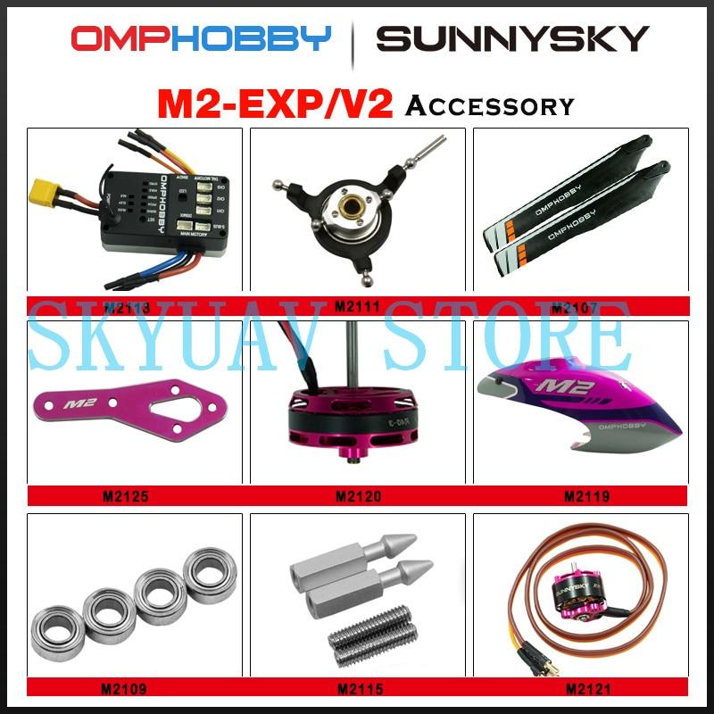 Sunnysky OMPHOBBY M2 EXP/V2 pièces dhélicoptère queue propepller moteur capot broche axe horizontal support dhélice