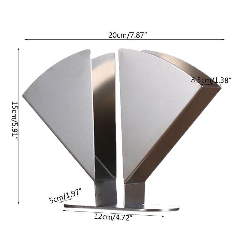 Stainless Steel Napkin Holder Paper Serviette Dispenser Vertical Decorative Tissue Rack Box for Dining Table Kitchen Countertop