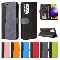 luxury leather flip case for samsung galaxy a22 a82 a72 a52 a42 a32 a12 a71 a51 a11 a40 a02s cover wallet shockproof phone coque