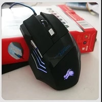 professional usb wired gaming computer mouse 5500 dpi optical led lighting mouse gamer for computer overwatch