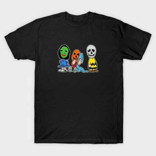 Erdnüsse Parody Halloween Kostüm Charlie Linus Van Pelt Schwarz T-Shirt Sommer Baumwolle Kurzarm O-ansatz männer T Shirt Neue s-3XL
