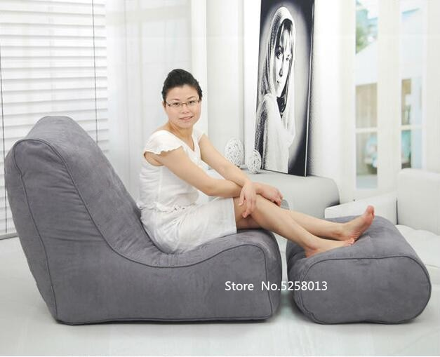 Открытый пляж Расслабляющий кресло мешок, гостиная темно-серый beanbag диван