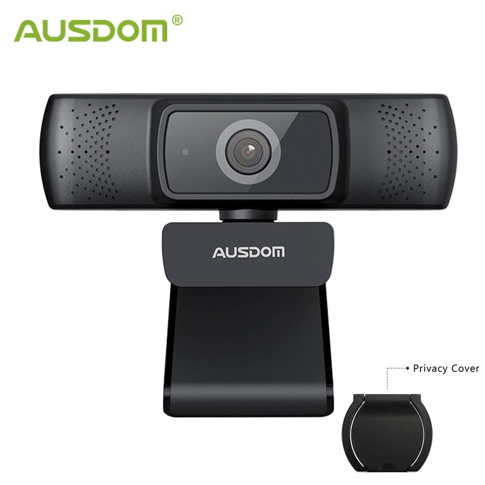 Фото - AUSDOM AF640 Full HD 1080P Webcam Auto Focus with Noise Cancelling Microphone Web Camera For Windows Mac windows web