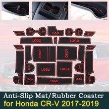 Anti-slip Door Rubber Cup Cushion for Honda CRV CR-V CR V 5th Gen V 2017~2019 2018 Groove Mat Interior Car Accessories for phone