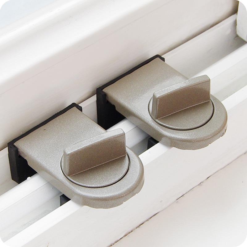 Practical Sliding doors and windows anti-theft lock push  protective doors and windows safety lock Furniture Hardware