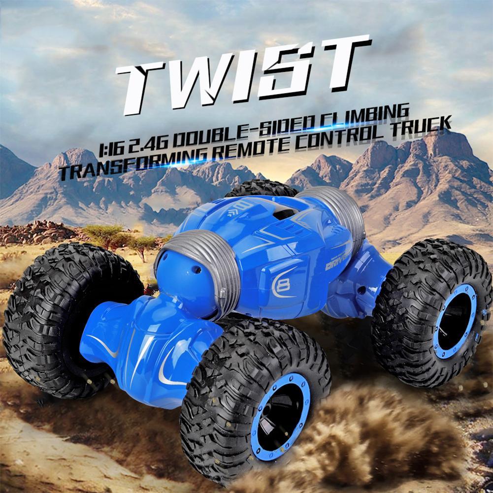 Q70 1/16 4WD doble cara 2,4G RC transformación todo terreno truco 3D Flip coche Control remoto coche Drift Buggy crawler Kids juguete