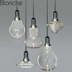 Modern Simple Glass Pendant Lights Creative Led Hanging Lamp for Restaurant Bedroom Bar Art Decor Lighting Fixtures Nordic Lamps