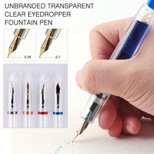 Vulpen Merkloze Transparant Clear Pipet Vulpen 0.38Mm 0.7Mm Nib Fontein-Pen Pennen School Kantoorbenodigdheden gift