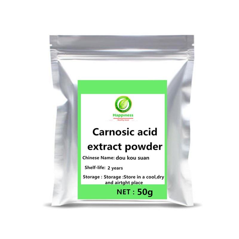 Nova chegada folhas de alecrim planta erva oleoresin extrato ácido carnosic em pó 1pc suplemento proteger a pele envelhecimento livre shippin