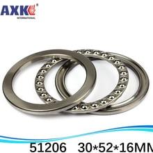 (1pcs) Axial Ball Thrust Bearing 51206 30*52*16 mm Plane thrust ball bearing