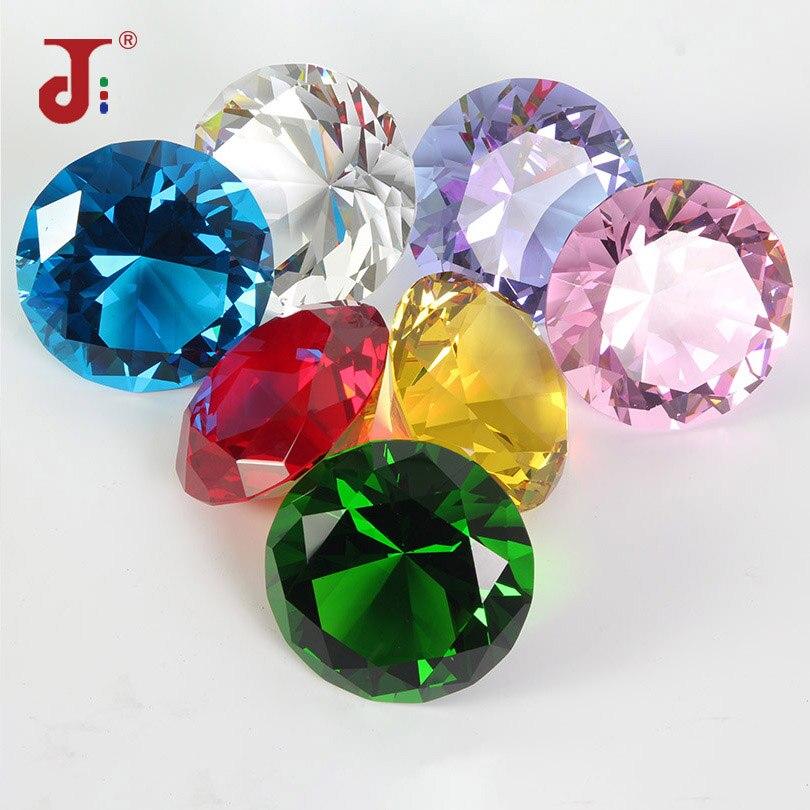צבעים גדול זכוכית יהלומי מסיבת קישוט קריסטל גדול יהלומים הצעה רומנטית עיצוב הבית קישוטי המפלגה Chrismas מתנות