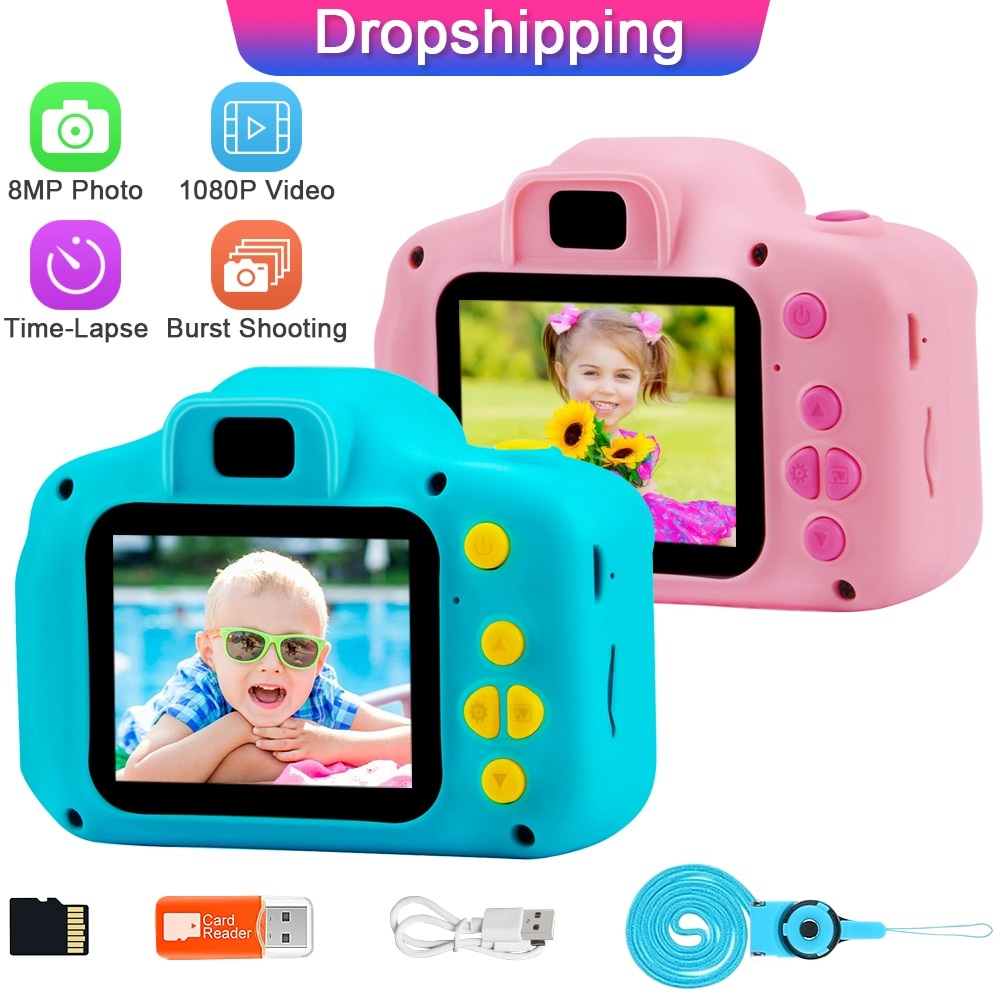 Prograce Child Camera Mini Digital Camera Photo Video Camera Children Camera Kid Camera Fun Toys for Girl Gift GKTZ Camera Vlog