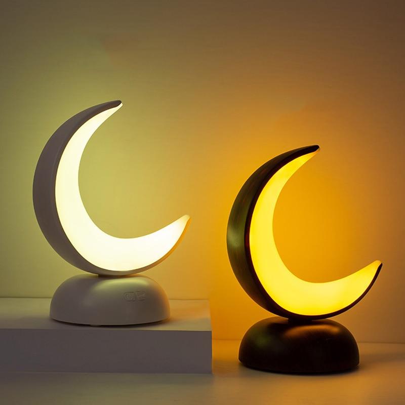 Moon Nightlight Portable office lamps Bedroom Night cap Desktop Led Table lamp Usb Loading Cute Baby Kids Sleeping lamp Home