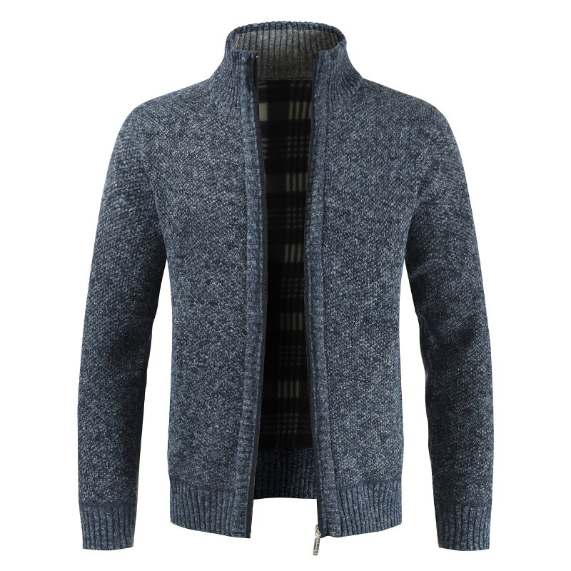 Sweater Men Autumn Winter Cardigan Sweater Coats Male Thick Fleece Mens Sweater Jackets Casual Knitwear Clothing M-4XL MY273