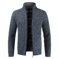 Свитер мужской осенне-зимний кардиган, свитер, пальто, мужской плотный флисовый свитер, куртки, повседневная трикотажная одежда M-4XL MY273