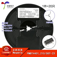 PMBT4401, 215 véritable écran dorigine W2X SOT-23 transistor 40 V/600mA SMD
