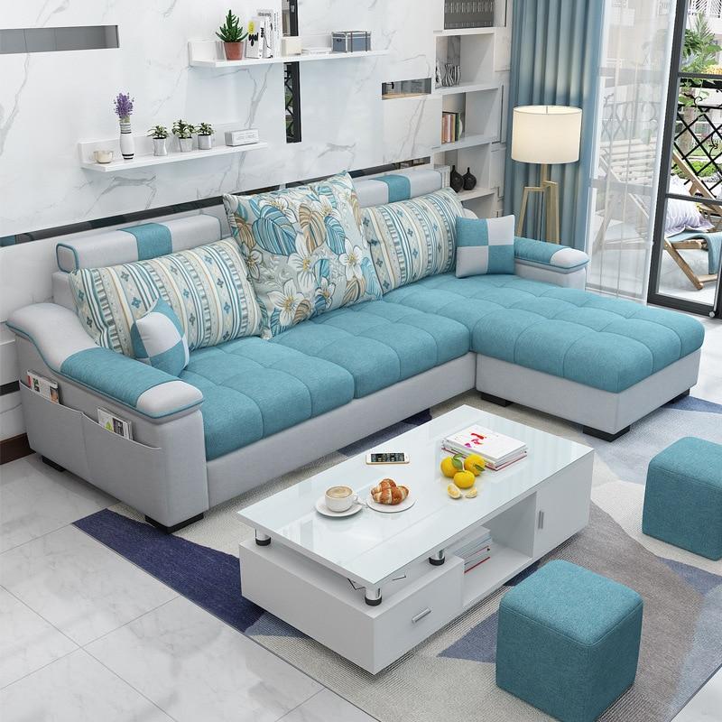 Диван для гостиной, мебель из ткани 210 см, диван в скандинавском стиле для трех человек, мебель для гостиной, домашняя одежда, ручная работа