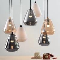 nordic led metal glass pendant lights lighting modern cafe bar living room lamp restaurant bedroom bedside decor light fixtures