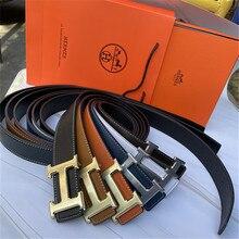 Men's Fashion Classic Designer H  Belt Luxury Belt Women's Casual Gold Buckle Letter Logo Smooth Buc
