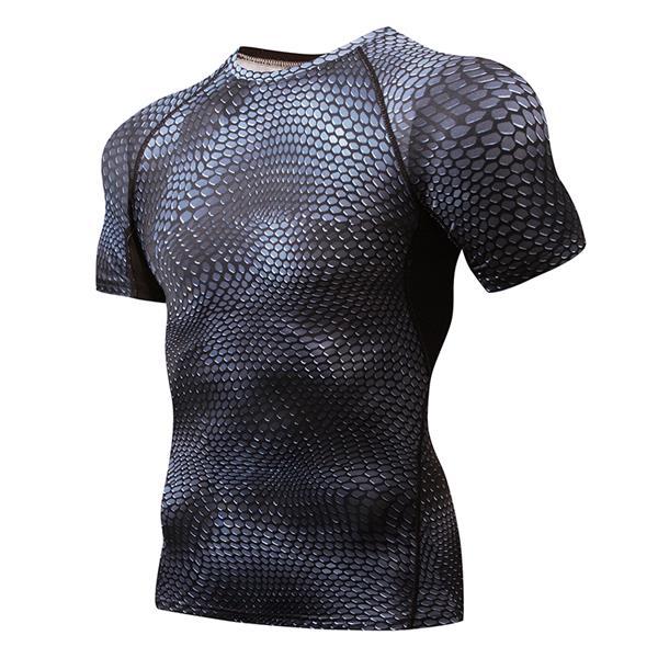 Camiseta de hombre de calidad con estampado 3D de secado rápido, ropa deportiva para gimnasio para hombre, Camiseta deportiva de compresión para correr, Camiseta deportiva para hombre