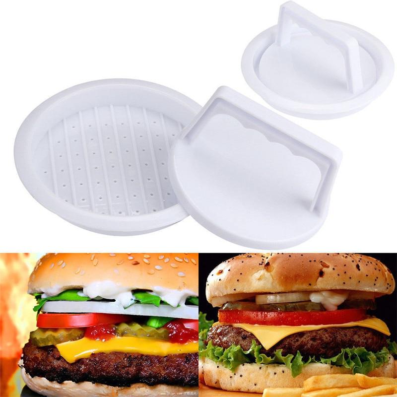 Molde de prensa de carne de hamburguesa accesorio práctico de cocina parrilla fabricante de hamburguesas molde de carne prensa de plástico de cocina gran oferta 2019