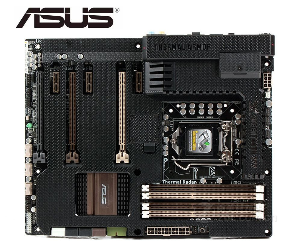 ASUS SABERTOOTH Z77 original motherboard for INTEL DDR3 LGA 1155 USB3.0 boards 32GB Z77 used Desktop motherborad