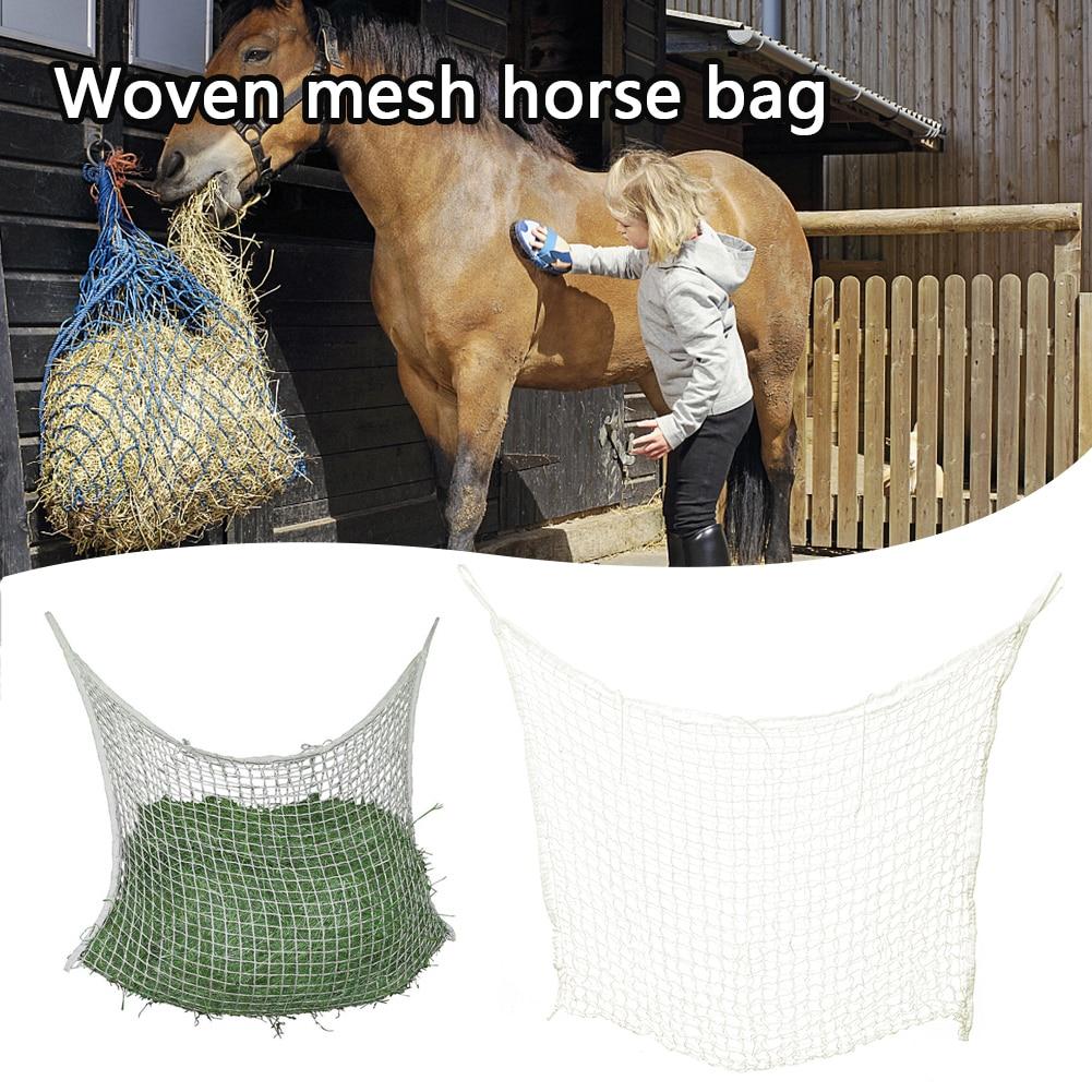Horse Donkey Feeding Bag Slow Feed Hay Bag Feeder Hay Net Horse Supplies Hay Forage Bag Net Farm Supplies New