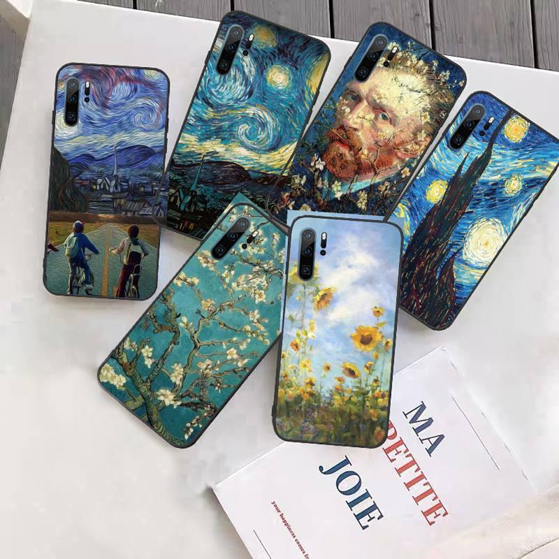 Tapa para celular Van Gogh teléfono caso Funda para Huawei P9 P10...