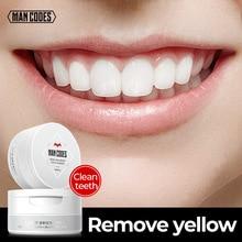 MANCODES 50g Teeth Whitening Powder Herbal Safe Fresh Dazzle Teeth Brighten Smoke Coffee Tea Stain Remove Toothpaste Tooth Care