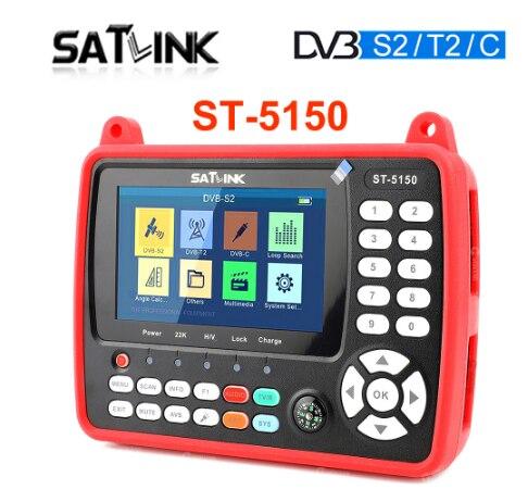 DVB-S2/T2/C كومبو HD إشارة مكتشف السواتل متر H.265 HEVC 4.3 بوصة TFT LCD SATLINK ST-5150 أفضل Satlink 6980 6951