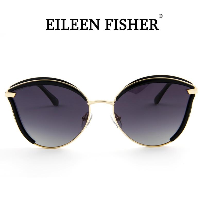 Gafas De Sol polarizadas EILEEN FISHER para mujer, Gafas De Sol polarizadas UV400 clásicas De marca De diseñador, Gafas De Sol Retro