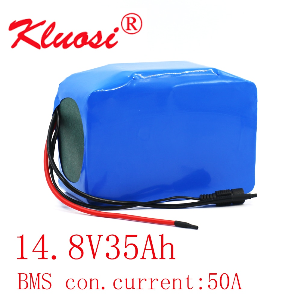Kلويسي 4S10P 16.8 فولت 35Ah 600 واط 14.4 فولت 14.8 فولت بطارية ليثيوم حزمة مع 50A BMS ل العاكس الذكية روبوت عالية الطاقة المعدات الخ