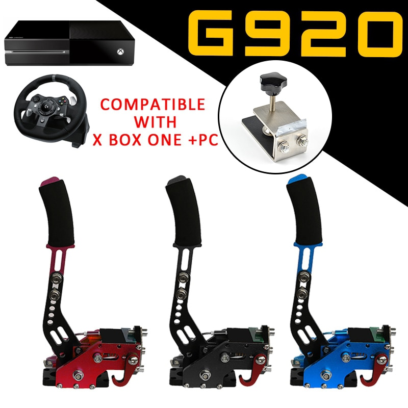 Xbox one + PC USB Hand Brake+Clamp For Racing Games G920 Logitech Brake System Handbrake Games Parts Black Blue Red