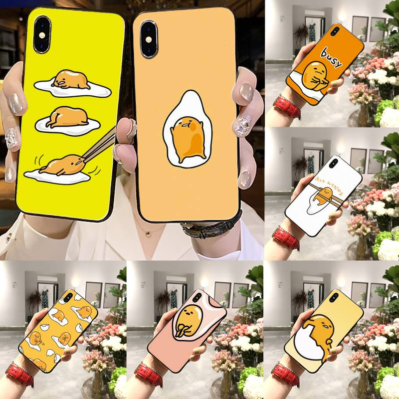 Huevo perezoso Gudetama de lujo divertido caja del teléfono de la moda para el iPhone 11 12 pro XS MAX 8 7 6 6S Plus X 5S SE 2020 XR