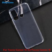 Pour Tecno Camon 15 Air Gel pouding Silicone téléphone coque arrière de protection pour Tecno Camon 15 étui souple en TPU