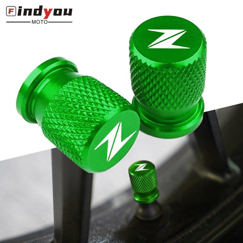Nueva válvula de neumático de motocicleta, tapa de eje de aire, accesorios de aluminio CNC para Kawasaki Z400 Z800 Z900 Z650 Z1000 todo el año