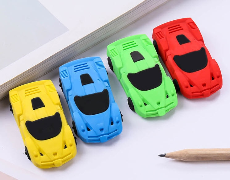 Creative toy car eraser Car shape rubber for students Novelty Gift 4pcs/lot