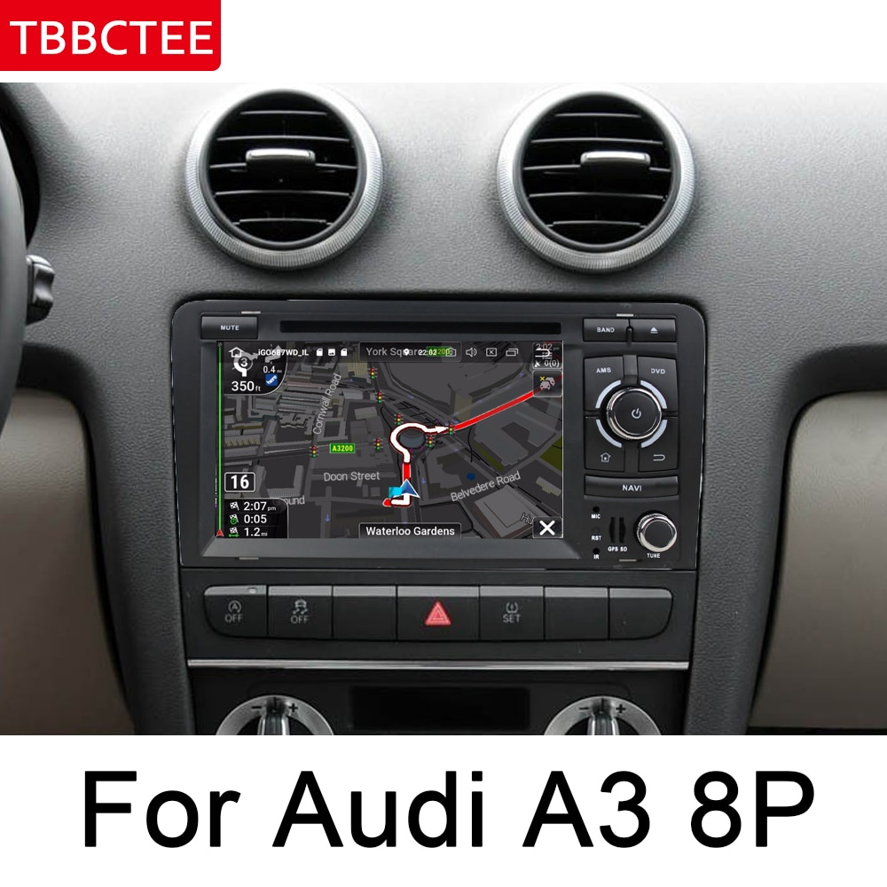Para Audi A3 8P S3 2003 ~ 2012 MMI HD IPS DSP estéreo Android, DVD para coche, GPS Navi, reproductor multimedia, radio WiFi, sistema BT, Unidad Principal