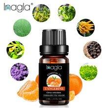 Inagla huile essentielle de mandarine Pure naturelle 10ML huiles essentielles pures aromathérapie diffuseurs huile saine Air immunitaire soin frais