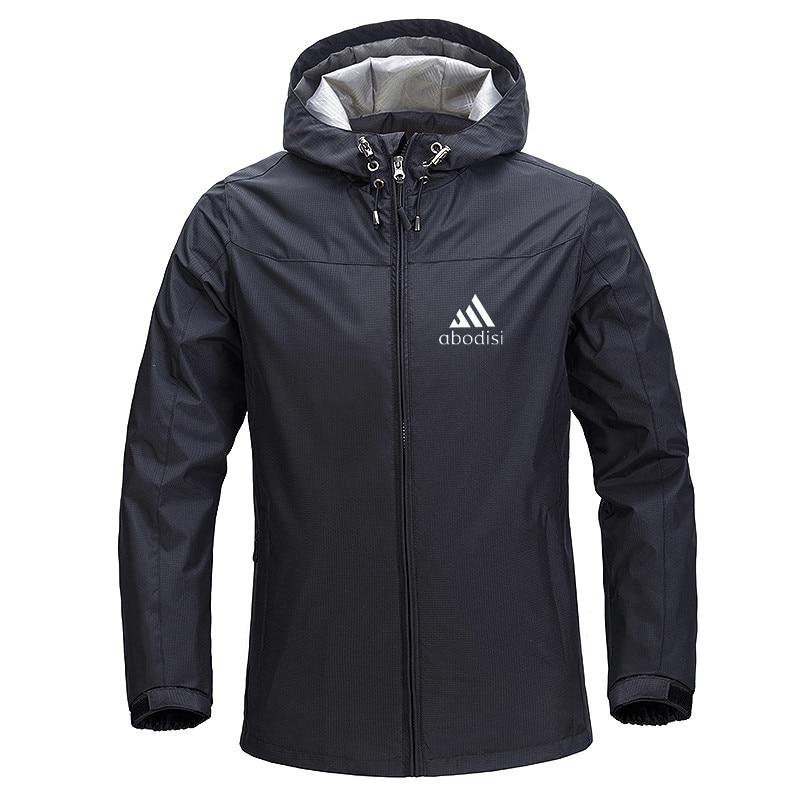 Men's Jacket Men's Outdoor Windbreaker Rainproof Hooded Zipper Cardigan Casual Sportswear 2021 Spring and Autumn New S-5XL