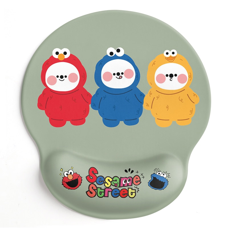 24x22x2cm Silica Gel   Sesame Street Mouse Pad  Lovely Wind  Rest to Relieve Wrist Pressure