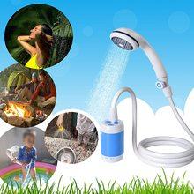 Kit de boquillas de ducha recargables, manguera de bomba de gancho, ducha Simple para acampar al aire libre, 4800mah