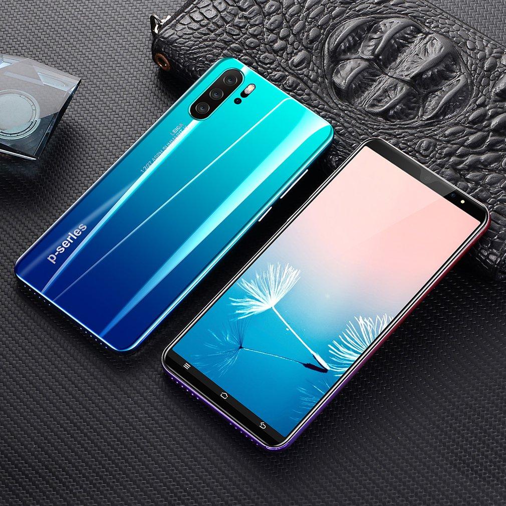 P33 هاتف ذكي 5 بوصة 3G شاشة كبيرة الهاتف المحمول 512MB RAM قدرة عالية حقيقية بصمة الوجه فتح الهواتف النقالة الهاتف