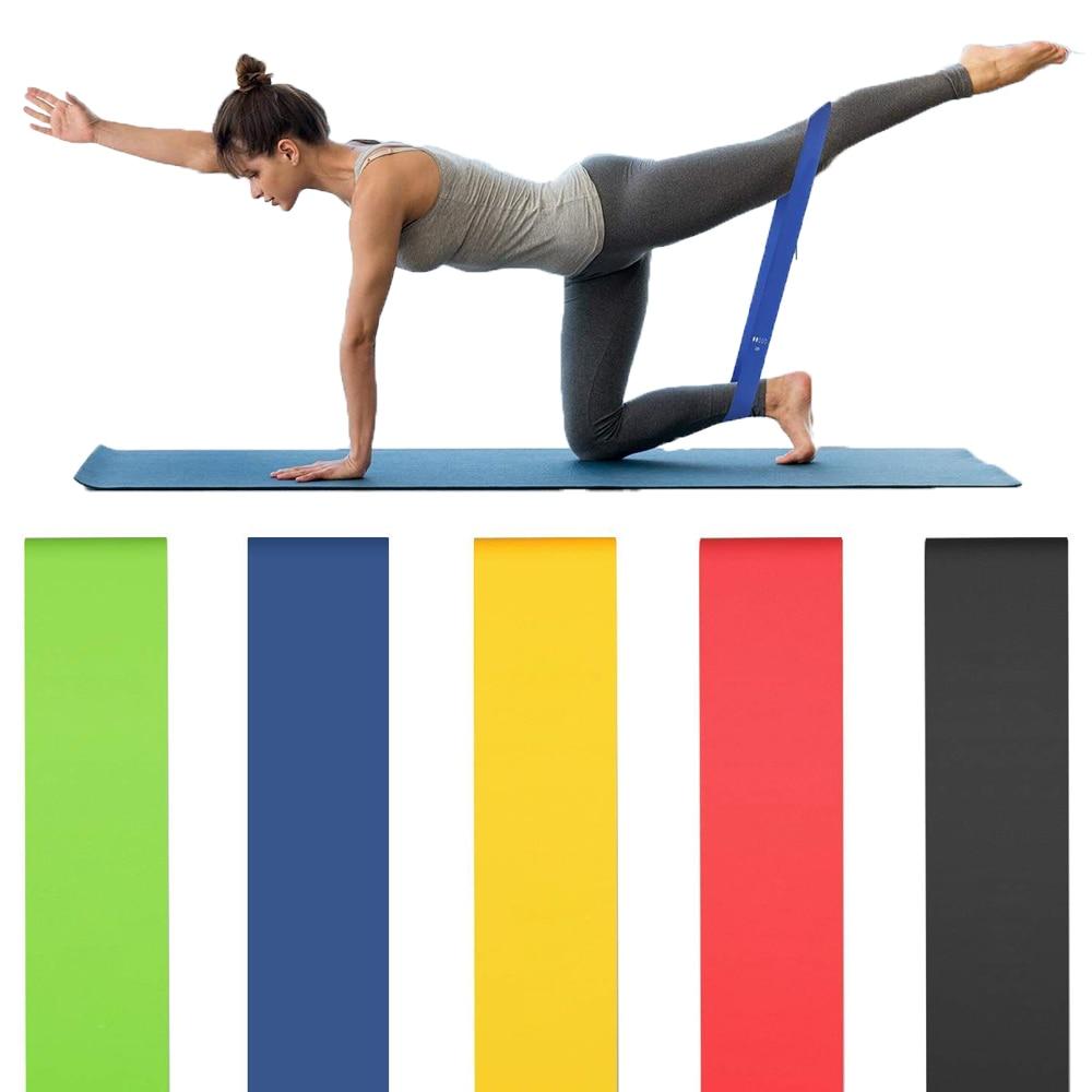 Эластичные ленты из латекса для йоги, кроссфита
