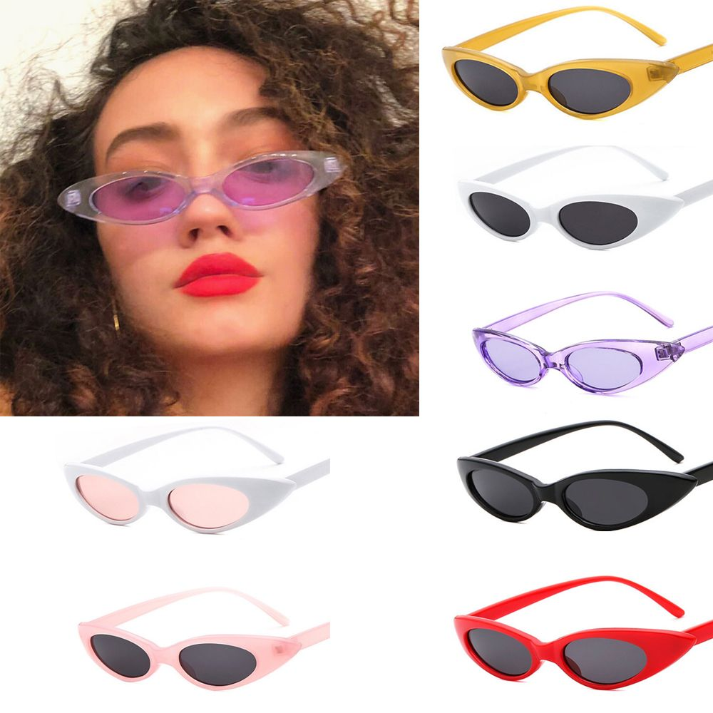 1pc Fashion Eye Sunglasses Retro Vintage Cat Eyeglasses Travel Women Triangular Sun Glasses Eyewear