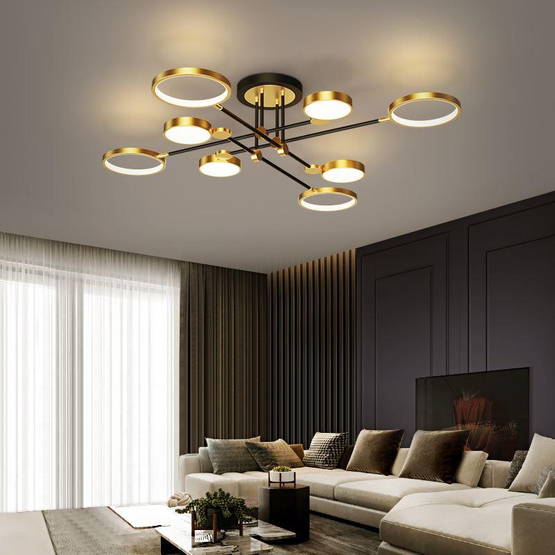 مصباح سقف LED من الألومنيوم ، تصميم حديث ، إضاءة داخلية ، إضاءة سقف زخرفية ، مثالية لغرفة المعيشة أو غرفة النوم ، انخفاض الشحن