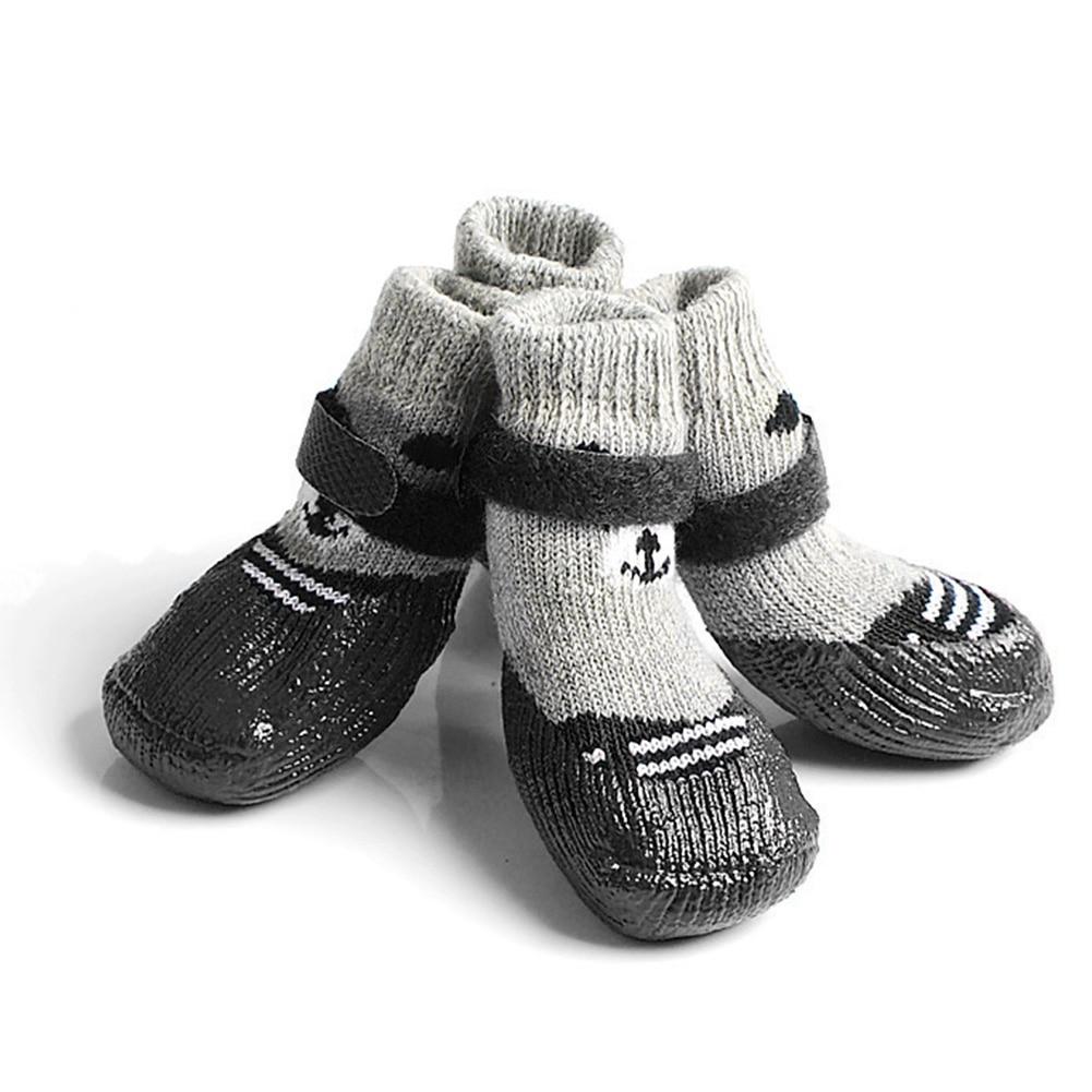 2 paar Elastische Hartholz Boden Tragen Hund Socken Mit Verstellbaren Trägern Hause Pfote Schutz Pet Liefert Anti Slip Innen Halten warme
