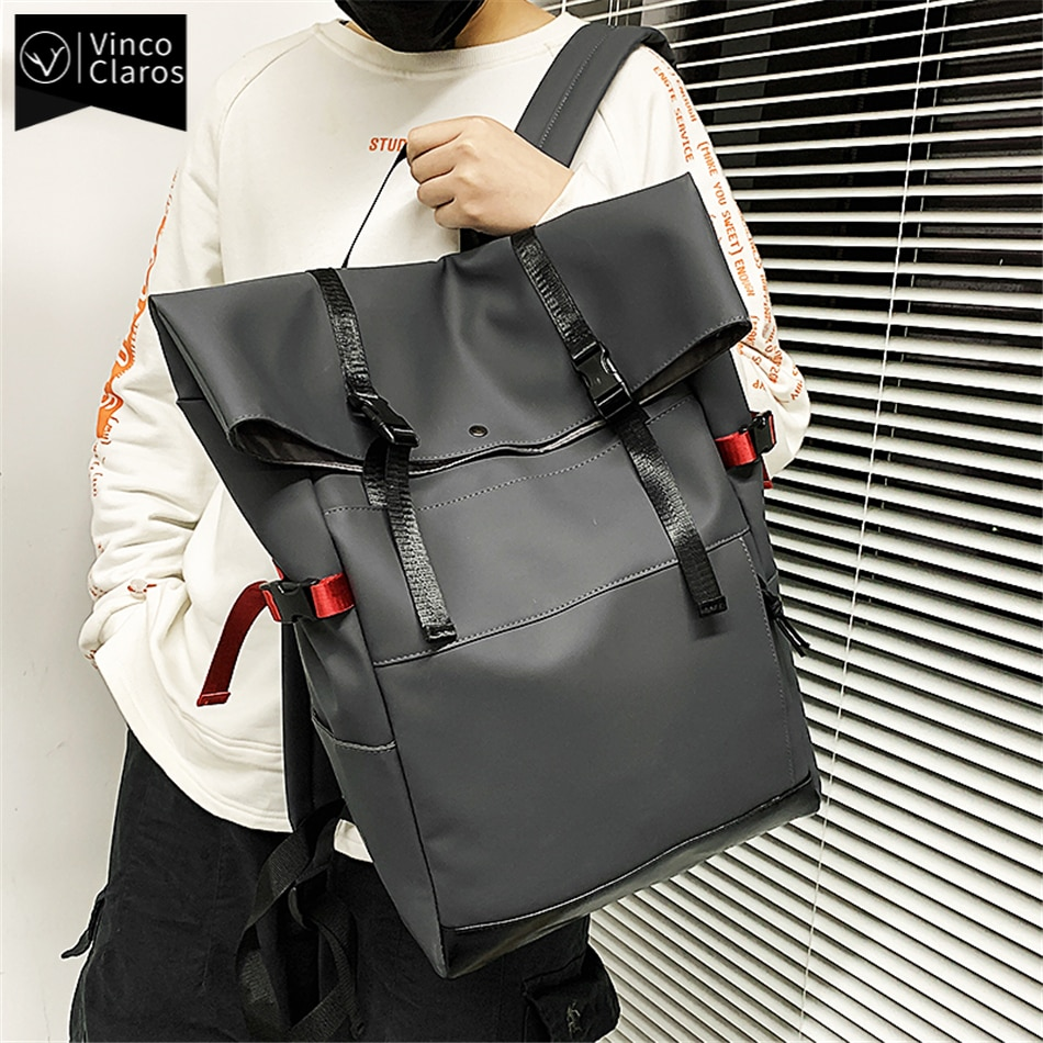 حقيبة ظهر رجالية مقاومة للماء ، حقيبة سفر خفيفة الوزن ، تصميم عصري ، لأجهزة الكمبيوتر المحمول