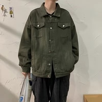 spring and autumn fashion brand ins workwear denim jacket mens versatile korean style loose top trendy student jacket